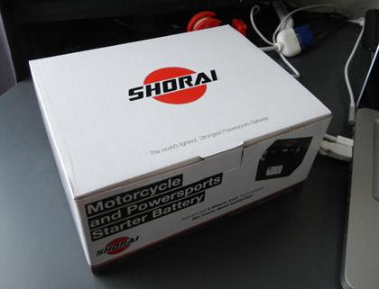 SHORAIバッテリーが届きました(SHORAIバッテリー【その2】)