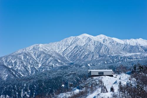 極楽坂の上の方はもう雪積もってた
